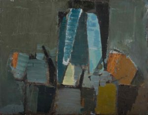 olivier debre - collage huile composition 1955