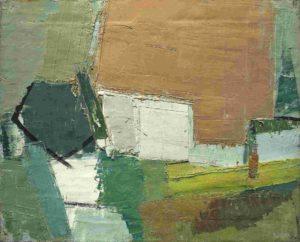 olivier debre - painting ferme pres de saint georges de didonne 1956