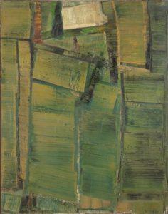 olivier debre - painting figure vert jaune 1958