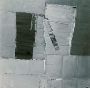 olivier debre - painting grey blue grey 1959