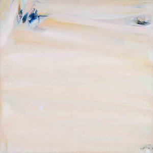 olivier debre - painting ocre rose clair de loire 1982
