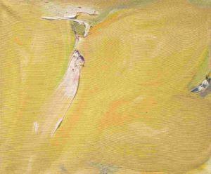 olivier debre - painting petite ocre tache rose 1975