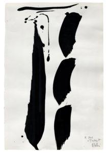 olivier debre - papier encre composition 1976