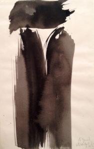olivier debre - papier encre composition 1980