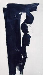 olivier debre - papier encre sans titre 1985