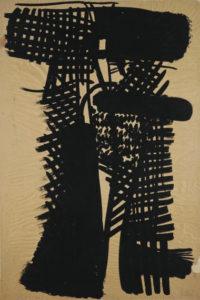 olivier debre - papier encre signe personnage 1951 1952