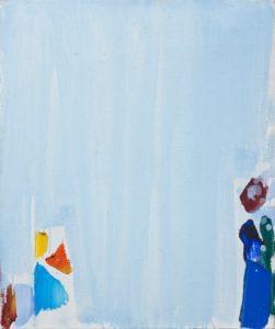 olivier debre - peinture bleu de royan taches vives 1993