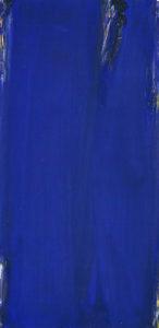 olivier debre - peinture bleu signe personnage 1982