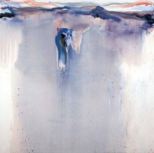 olivier debre - peinture bleu violet de soir a pingvellir 1996 catalogue exposition 2017