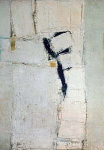 olivier debre - peinture grand personnage blanc 1957 1958