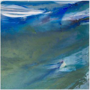 olivier debre - peinture grande verte et bleue svanoy 1974
