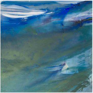 olivier debre - peinture grande verte et bleue svanoy 1974 catalogue exposition 2017