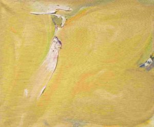 olivier debre - peinture petite ocre tache rose 1975