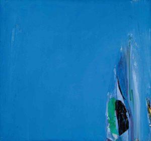 olivier debre - peinture royan bleu 1966