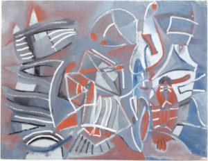 olivier debre - sans titre signe musicien 1947 1948 newsletter art comes to you 18