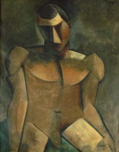 pablo picasso - painting homme nu assis 1908 1909
