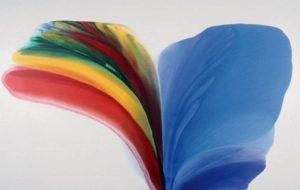 paul jenkins - peinture phenomena blue held over 1975