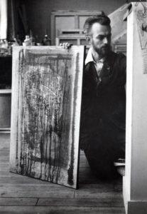 paul jenkins - portrait paris 1953 studio