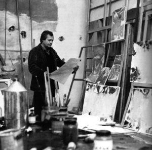 sam francis - portrait atelier