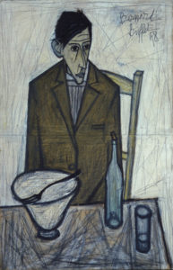 bernard buffet - painting le buveur 1948