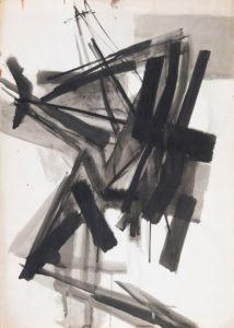 huguette arthur bertrand - encre papier sans titre 1959