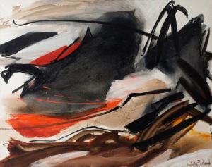 huguette arthur bertrand - peinture cela qui gronde 1967 catalogue 2018