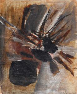 huguette arthur bertrand - sans titre 1963 huile papier