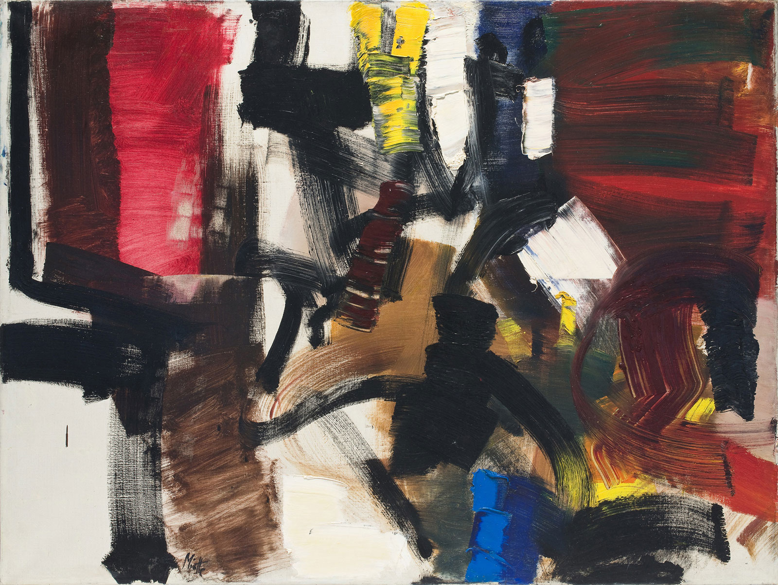 jean miotte - untitled oil 1958