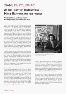 marie raymond - exhibition le mans 2021 en