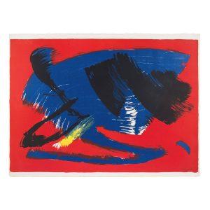 gerard schneider - sans titre 1970 lithographie
