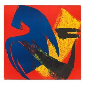 gerard schneider - sans titre 1980 lithographie