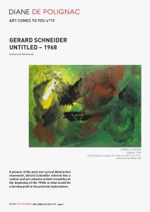 gerard schneider - newsletter art comes to you 19 cover