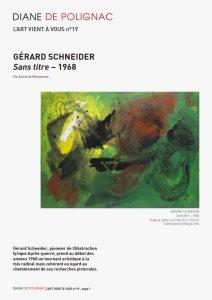 gerard schneider - newsletter l art vient a vous 19 couverture