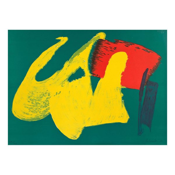gerard schneider - sans titre 1983 estampe lithographie e shop