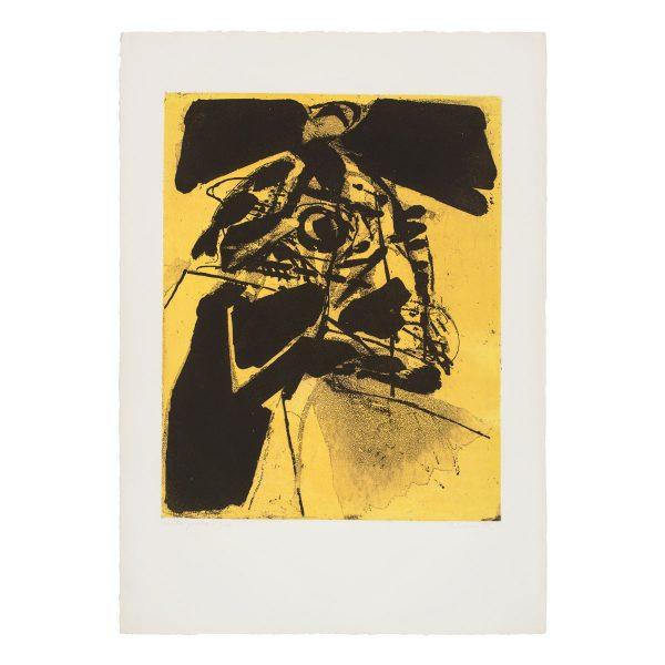 albert bitran - 1974 centre jaune lithographie papier e shop