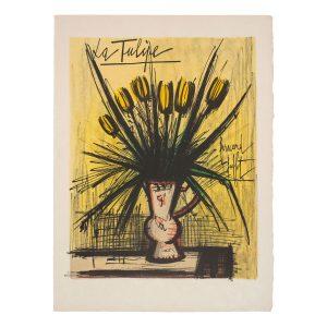 bernard buffet - lithographie la tulipe vers 1980 e shop