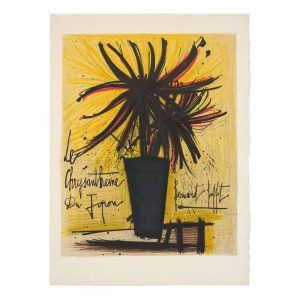 bernard buffet - lithographie le chrysantheme du japon vers 1965 e shop