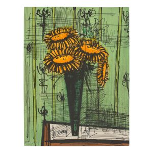 bernard buffet - lithographie les tournesols vers 1965 e shop