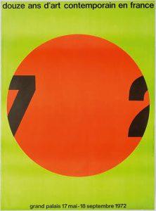 douze ans d art contemporain en france - 1972 affiche exposition