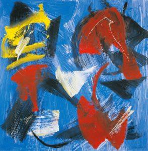 gerard schneider - untitled 1983 acrylic exhibition 2021
