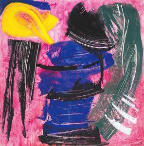 gerard schneider - untitled 1983 acrylic paper exhibition 2021