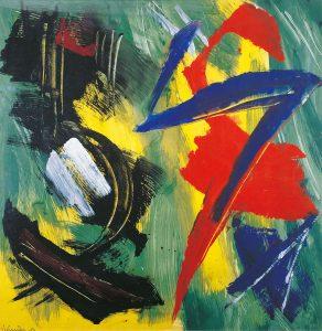 gerard schneider - untitled 1984 acrylic exhibition 2021