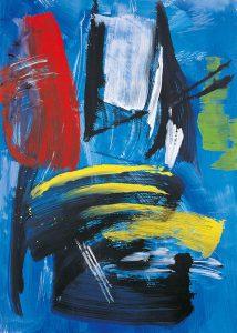 gerard schneider - untitled 1985 acrylic exhibition 2021