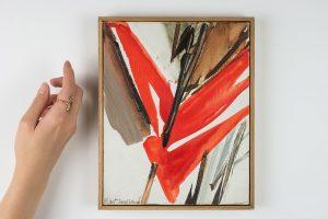 huguette arthur bertrand - jour clair 1991 huile sur toile simulation 2