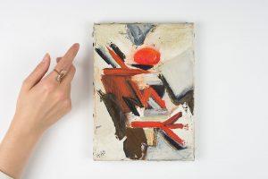 huguette arthur bertrand - sans titre 1965 huile sur toile simulation 2