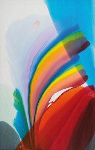 paul jenkins - phenomena spectrum wind sock 1977 painting