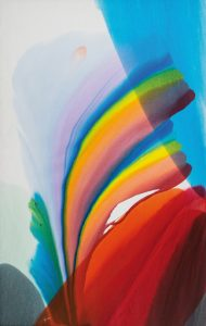 paul jenkins - phenomena spectrum wind sock 1977 peinture