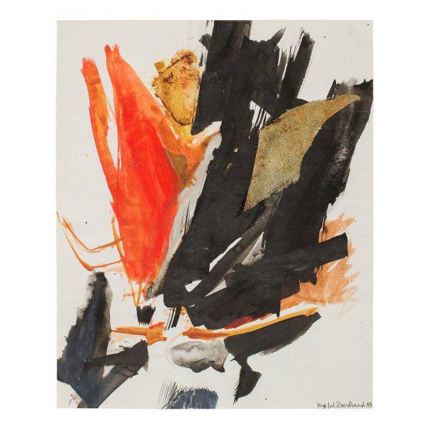 hugette arthur bertrand - untitled 1963 fabric collageon ink gouache e shop