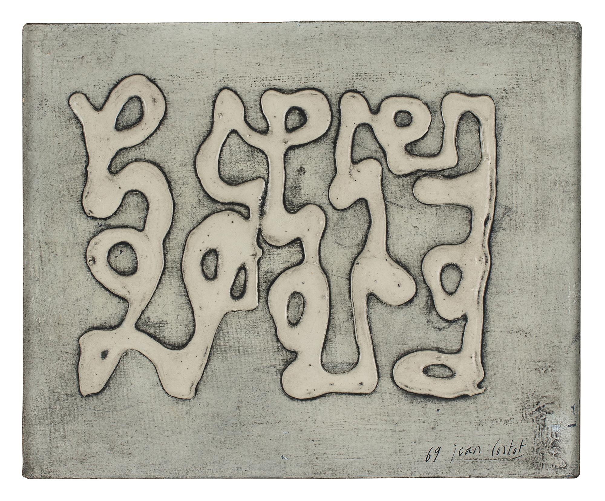 jean cortot - canvas ecriture 1969