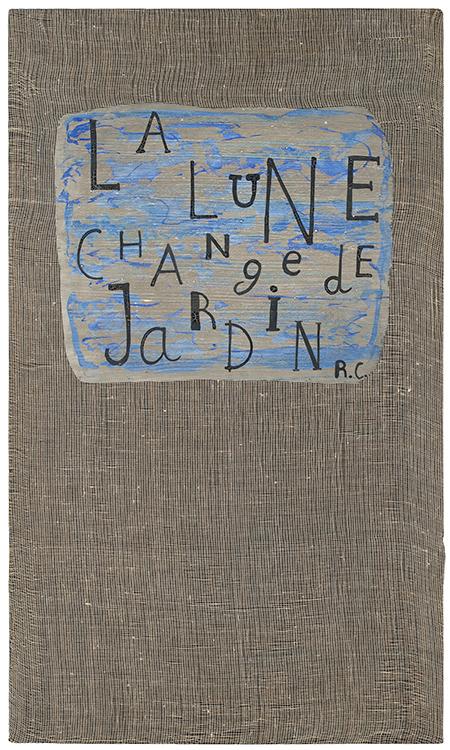 jean cortot - canvas la lune change de jardin 1983